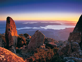 Hobart seen from Mt Wellington